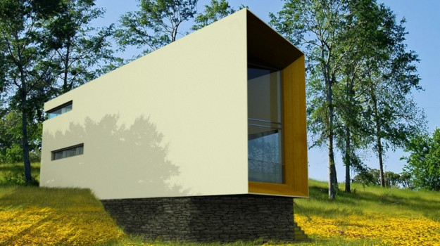 rodinny-dom-novostavba-zahorska-bystrica-02-nizkoenergeticky-navrh-domu-moderny-plocha-strecha-architekt-biela-fasada-dreveny-obklad