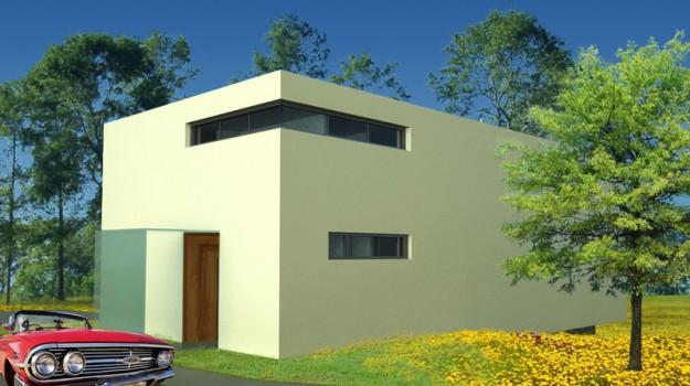 rodinny-dom-novostavba-zahorska-bystrica-03-nizkoenergeticky-navrh-domu-moderny-plocha-strecha-architekt-biela-fasada-dreveny-obklad
