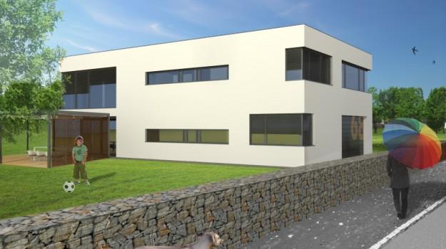 rodinny-dom-novostavba-biely-potok-02-nizkoenergeticky-navrh-domu-moderny-plocha-strecha-architekt-biela-fasada