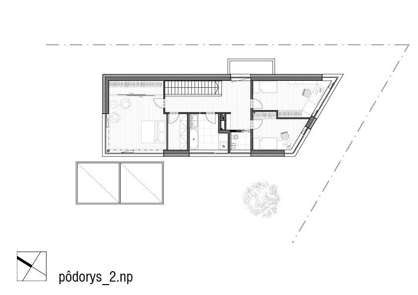 nizkoenergeticky-rodinny-dom-Biely-Potok-podorys-poschodia-2NP