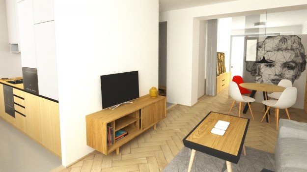 Interier-bytu-rekonstrukcia-Strkovecke-jazero-Bratislava-05-zmena-dispozicie-prakticka-premena-3-izbovy-byt-krasna-obyvacia-izba-pop-art-malba-Marilyn-interierovy-dizajn-byt-navrhnuty-architektom