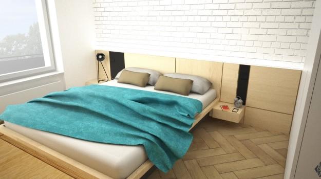 Interier-bytu-rekonstrukcia-Strkovecke-jazero-Bratislava-09-interierovy-dizajner-zmena-dispozicie-prakticka-premena-3-izboveho-interieru-romanticka-moderna-spalna-obraz-budha-tehlova-stena