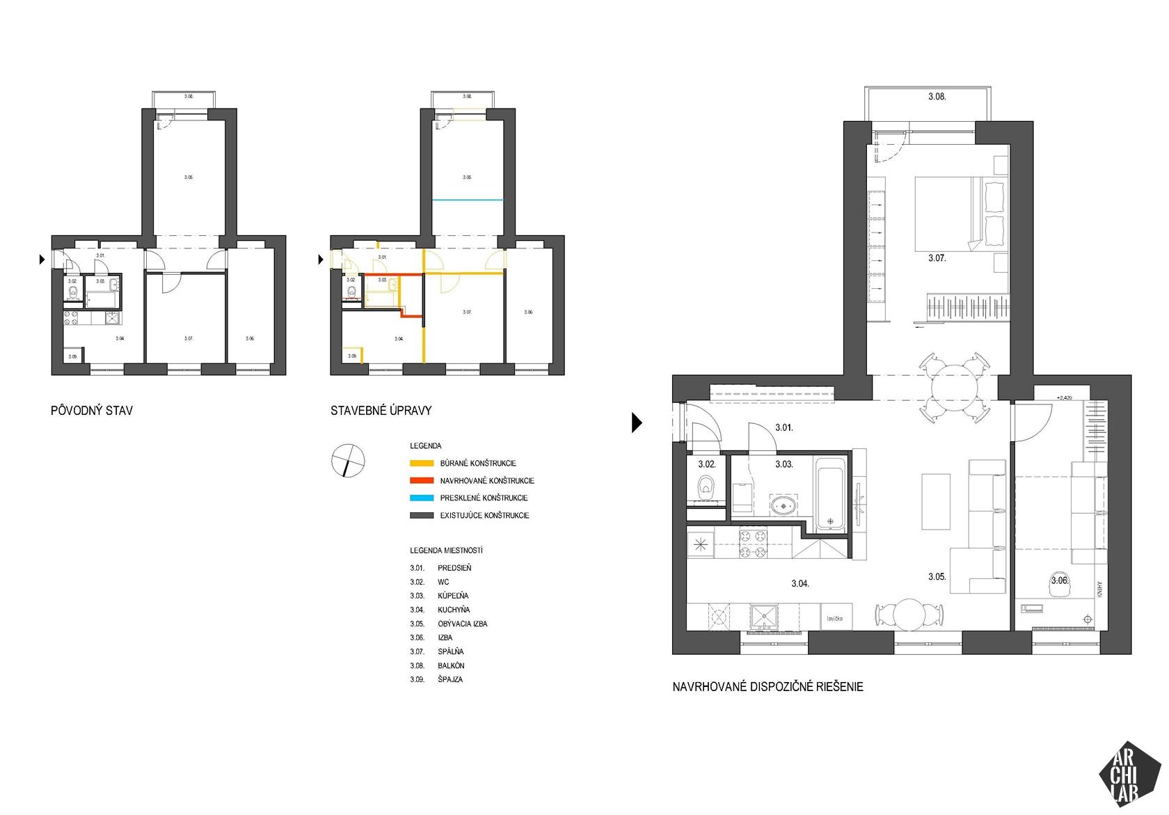 Interier-bytu-rekonstrukcia-Strkovecke-jazero-Bratislava-podorys