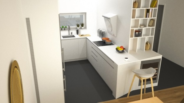 biela-kuchyna-minimalizmus-novostavba-mezonetovy-byt-Vieden-02-architekt-Bratislava-biely-nadcasovy-dizajn-pracovna-doska-himacs