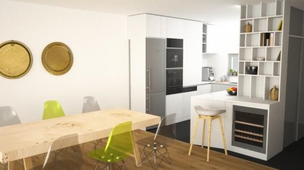 biela-kuchyna-minimalizmus-novostavba-mezonetovy-byt-Vieden-03-biely-nadcasovy-dizajn-pracovna-doska-himacs