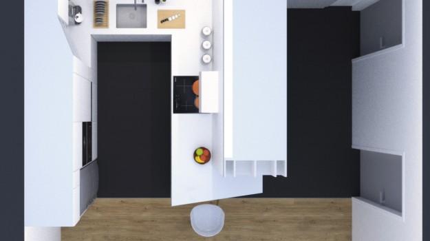 biela-kuchyna-minimalizmus-novostavba-mezonetovy-byt-Vieden-podorys-architekt-Bratislava-biely-nadcasovy-dizajn-pracovna-doska-himacs