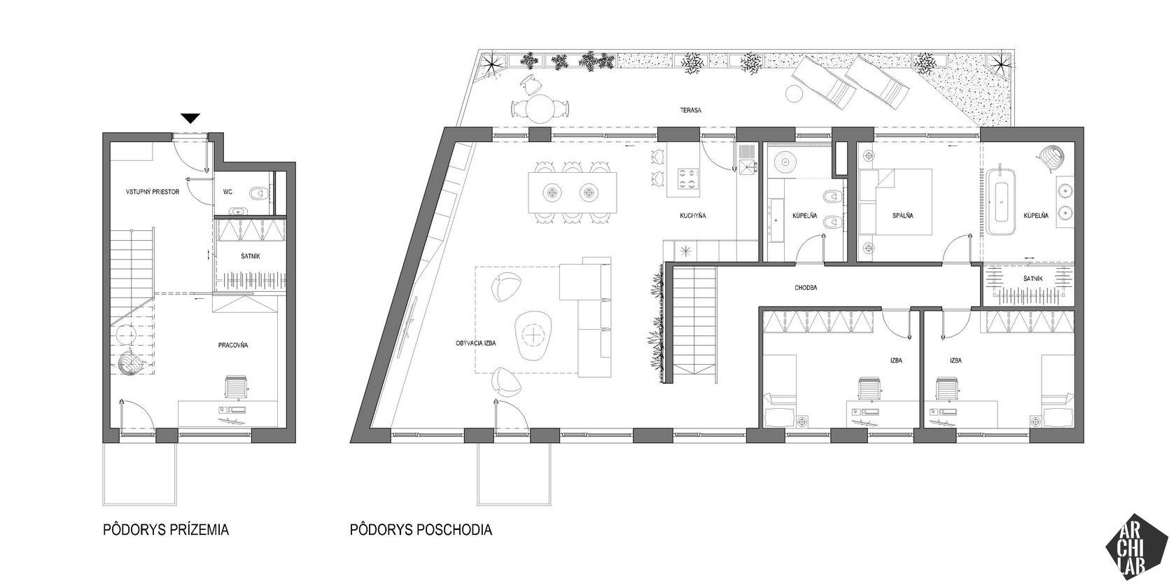 interier-mezonetoveho-bytu-Mytna-Bratislava-podorys-navrh