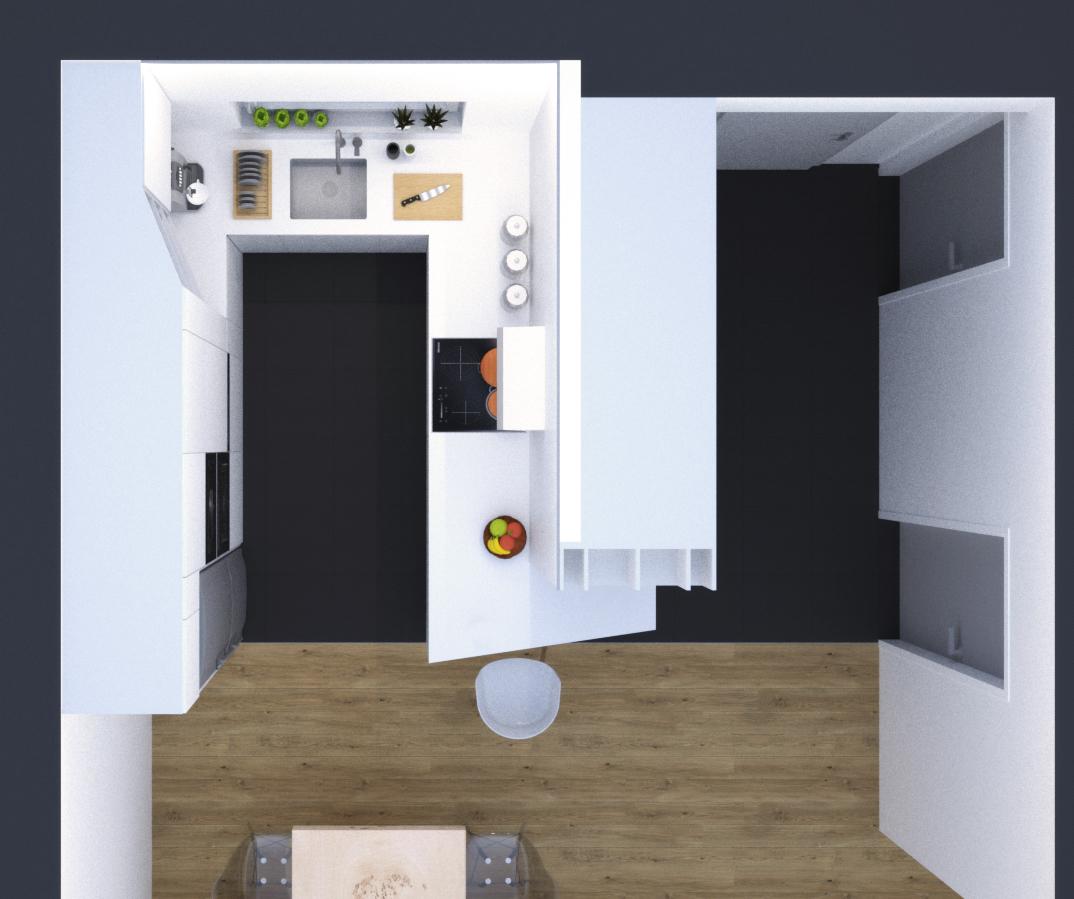 interier-mezonetoveho-bytu-biela-kuchyna-Vieden