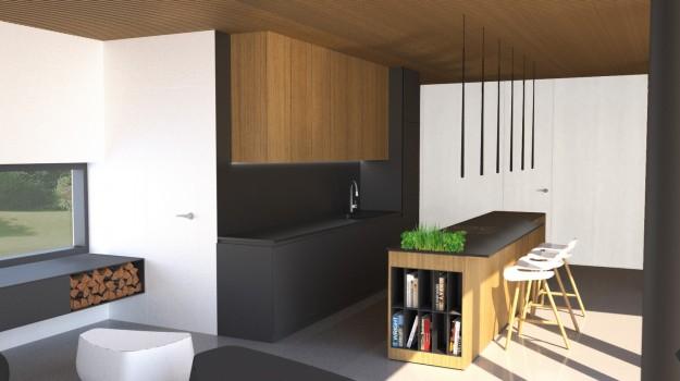 interier-rodinneho-domu-novostavba-Stupava-luxusny-dom-jedinecny-dizajn-02-interierovy-architekt-jedinecna-cierna-kuchyna-pracovna-doska-Corian-dreveny-pult-dizajnove-lampy-Vibia-stolicky-Kristalia