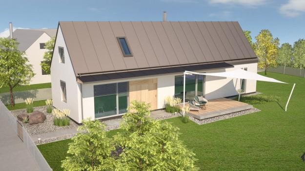 pasivny-rodinny-dom-novostavba-dubova-pri-modre-01-stylovy-navrh-domu-moderny-dizajn-dreveny-obklad-fasady-sedlova-strecha-francuzske-okna-architekt-archilab-velka-zahrada