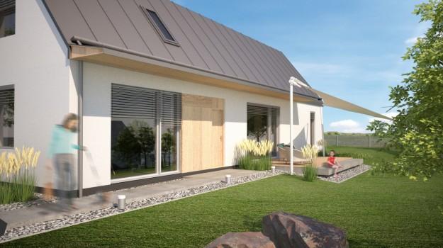 pasivny-rodinny-dom-novostavba-dubova-pri-modre-03-stylovy-navrh-domu-moderny-dizajn-dreveny-obklad-fasady-sedlova-strecha-francuzske-okna-architekt-archilab