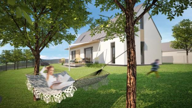 pasivny-rodinny-dom-novostavba-dubova-pri-modre-05-stylovy-navrh-domu-moderny-dizajn-dreveny-obklad-fasady-sedlova-strecha-francuzske-okna-architekt