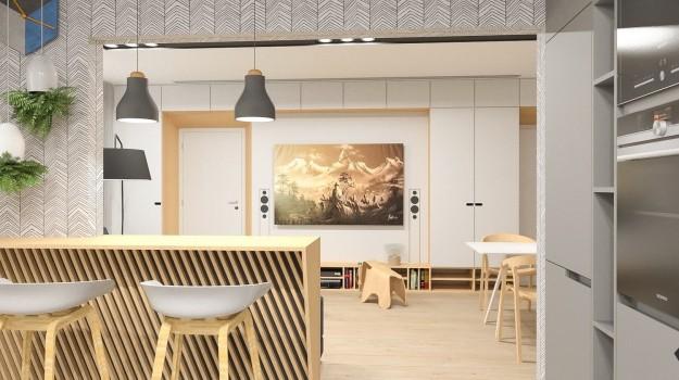 Interier-4-izboveho-bytu-rekonstrukcia-Ambroseho-ul-Bratislava-09-navrh-od-architekta-interierovy-dizajn-archilab-nabytok-na-mieru-stylovy-barovy-pult-svetle-drevo
