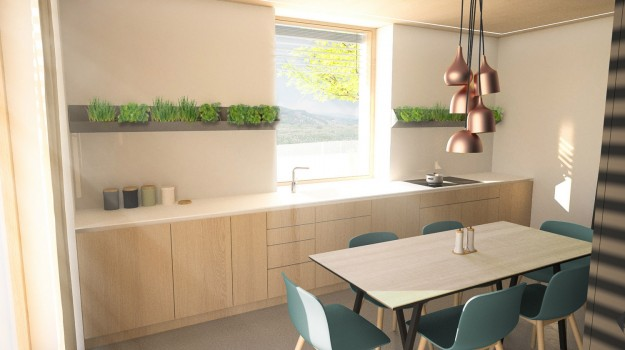 interier-pasivny-rodinny-dom-novostavba-dubova-pri-modre-moderna-kuchyna-dubove-drevo-bylinky-krasna-jedalen-dizajnovy-nabytok-medene svetla-skandinavsky-styl-7