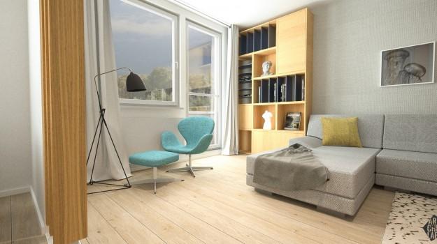 interier-byt-rekonstrukcia-Dibrovova-ul-Stara-Tura-04-navrh-od-architekta-interierovy-dizajn-archilab-moderna-kniznica-siva-sedacka-moderny-dizajnovy-nabytok