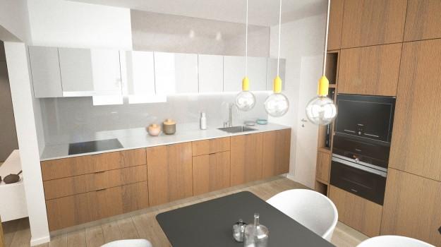 interier-byt-rekonstrukcia-Dibrovova-ul-Stara-Tura-07-variant-1-navrh-od-architekta-interierovy-dizajn-archilab-moderna-kuchyna-biela-pracovna-doska-orechove-drevo-kuchynske-dvierka-vstavane-spotrebice