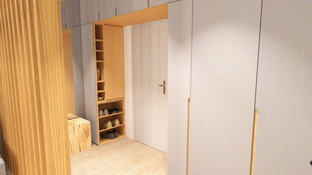 interier-byt-rekonstrukcia-Dibrovova-ul-Stara-Tura-16-navrh-od-architekta-interierovy-dizajn-archilab-vstupny-priestor-satnikova-skrina-na-mieru