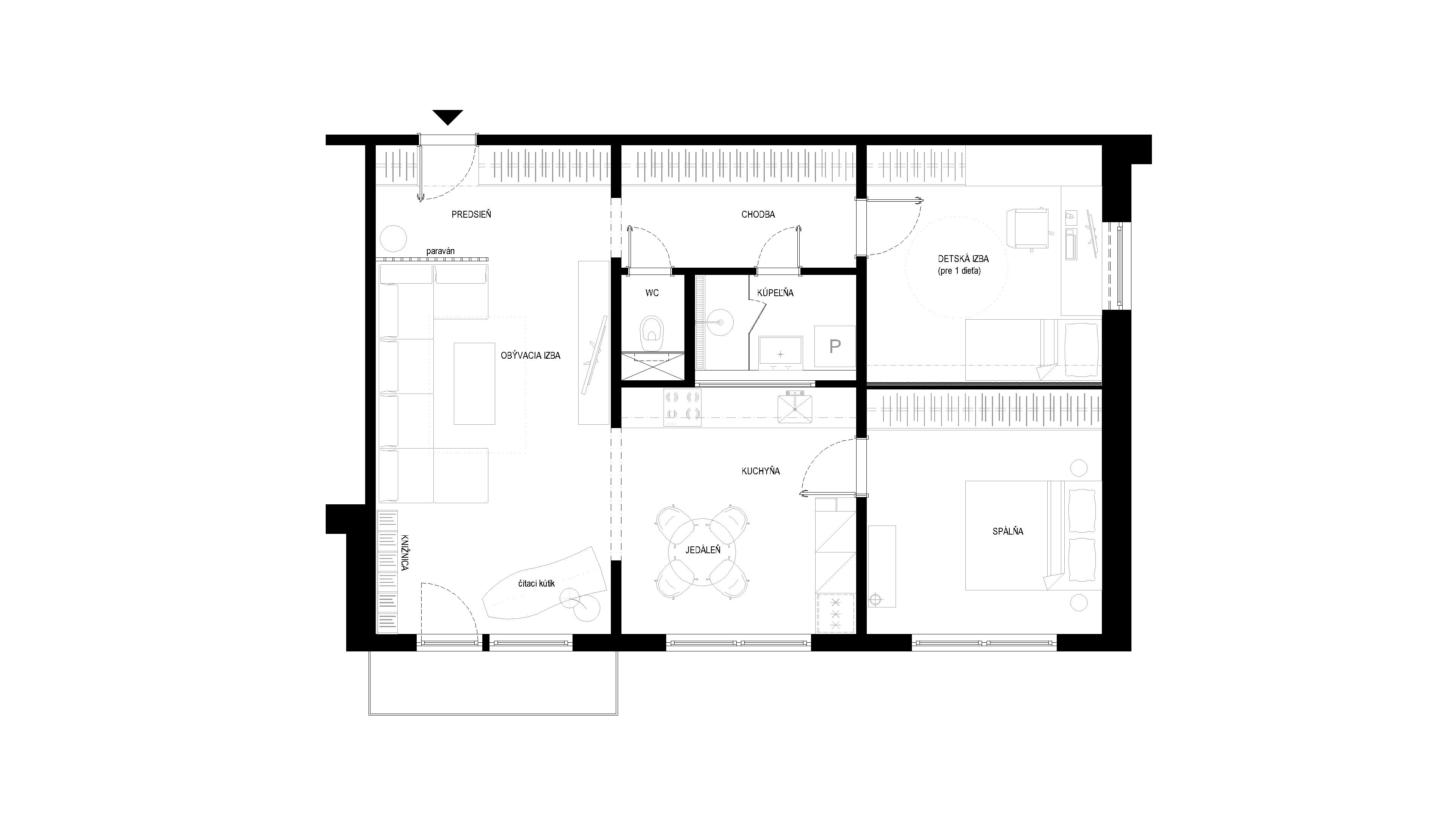 interier-bytu-rekonstrukcia-dibrovova-podorys-02-po rekonstrukcii