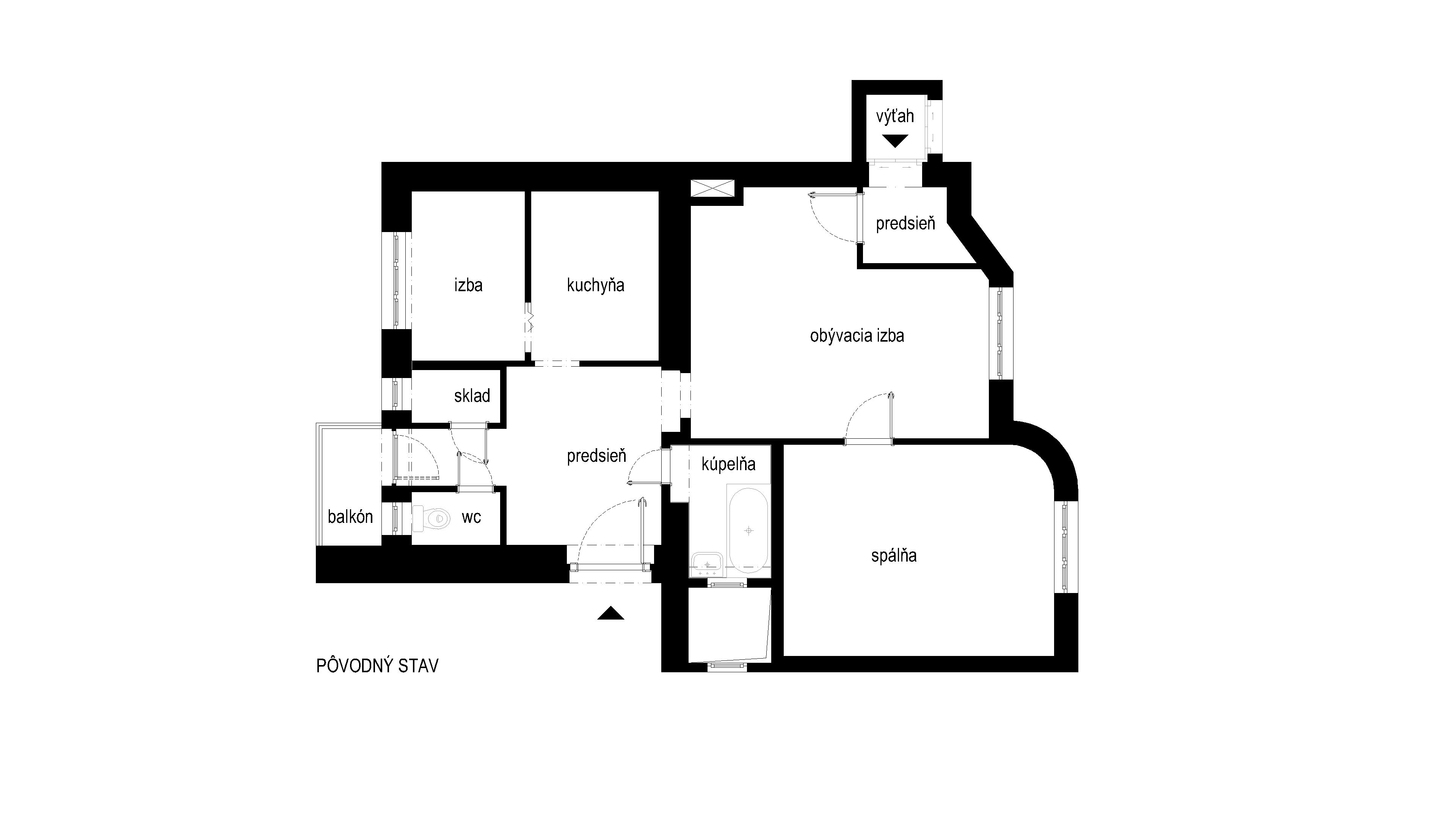 interier-bytu-zochova-podorys-01-povodny-stav-