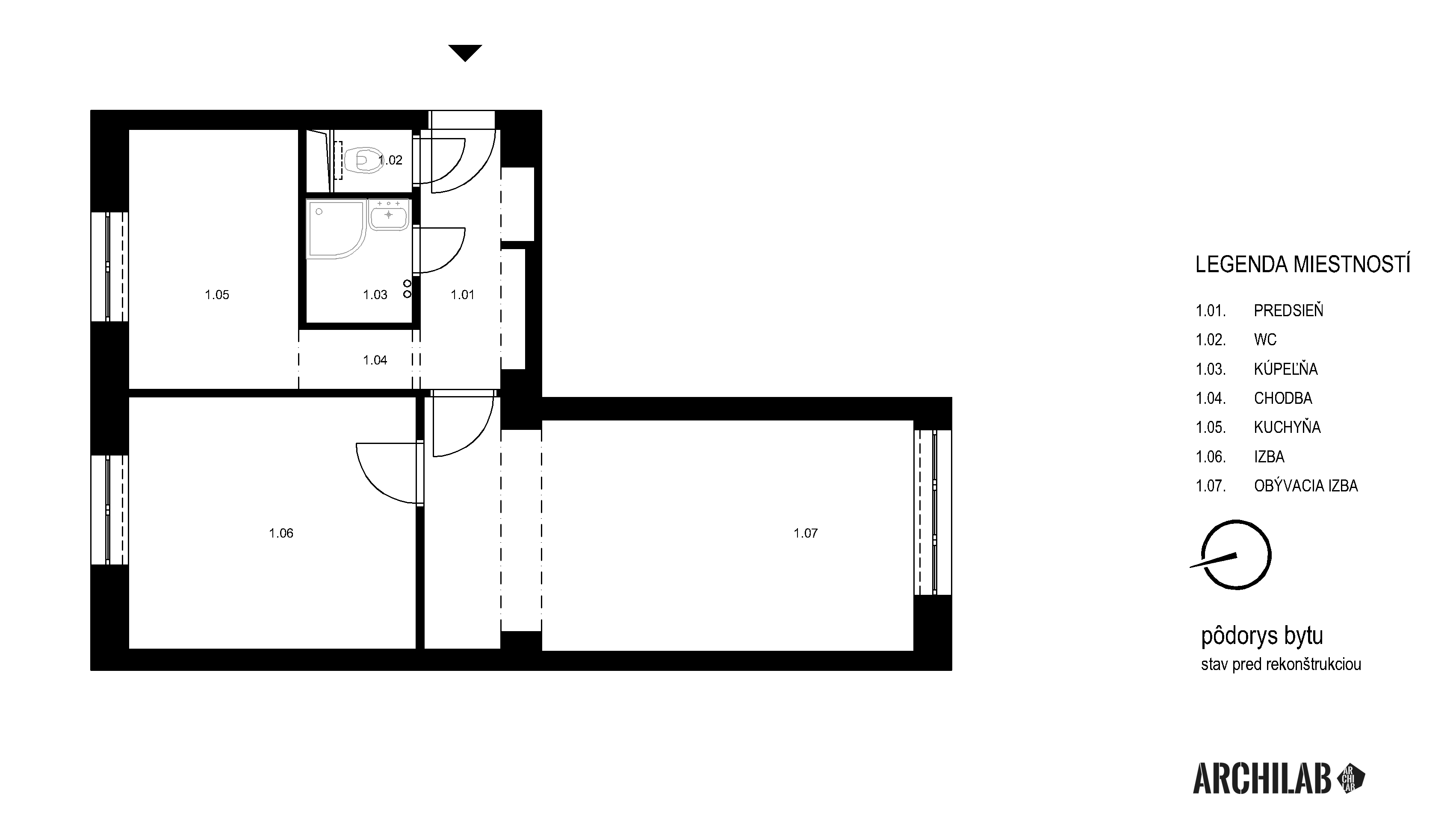 Interier-bytu-rekonstrukcia-Tokajicka-ul-Bratislava-Podorys-povodny-02