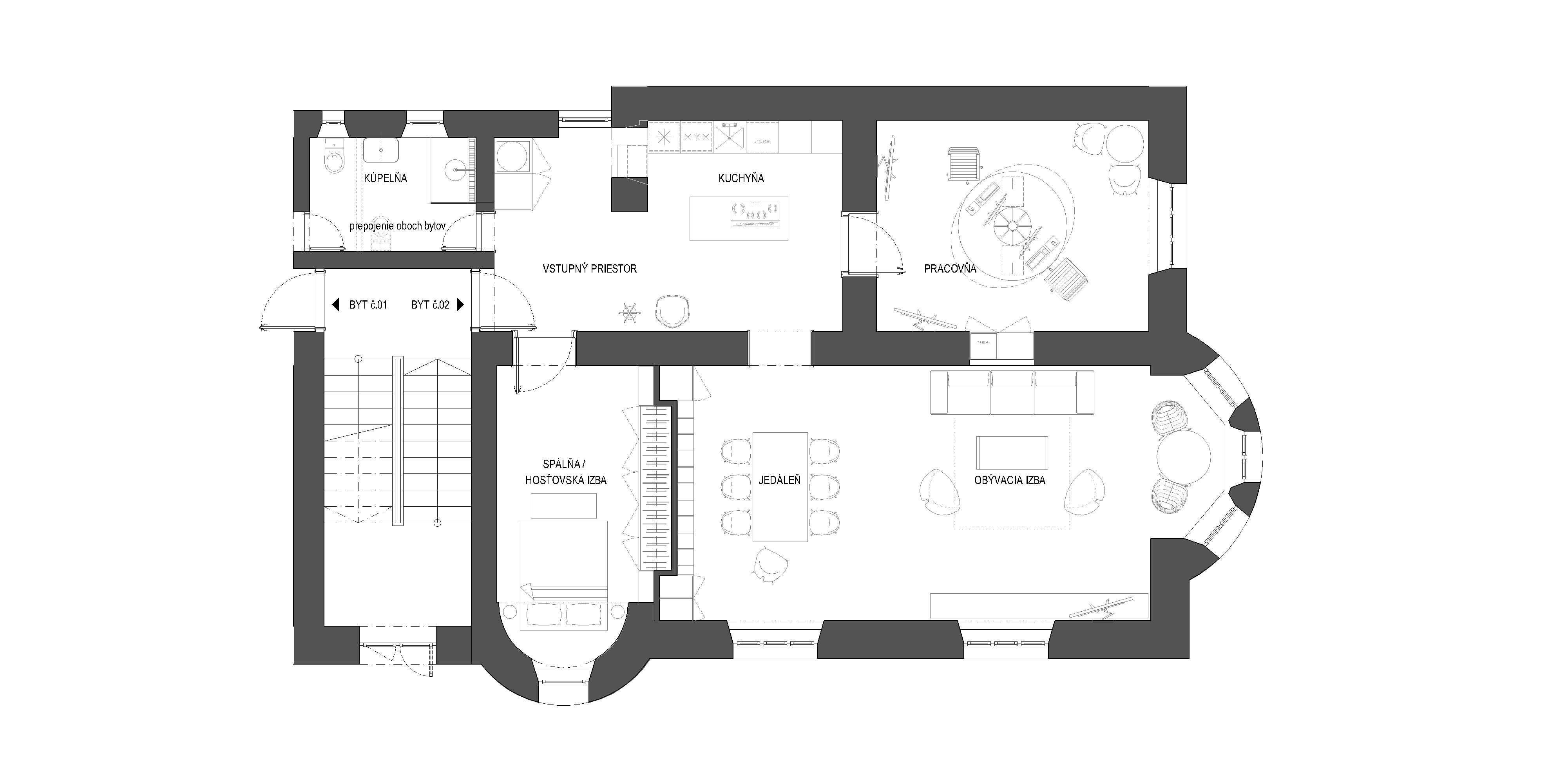interier-bytu-rekonstrukcia-palisady-Bratislava-podorys-01-po-rekonstrukcii-navrh-svieza-dispozicia