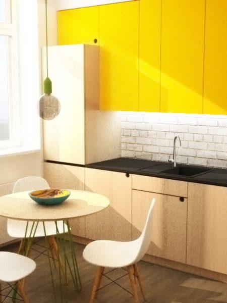 interier-bytu-rekonstrukcia-Zochova-ul-Bratislava-05-industrialny-styl-otvorena-kuchyna-jedalen-kruhovy-stol-interierovy-dizajn