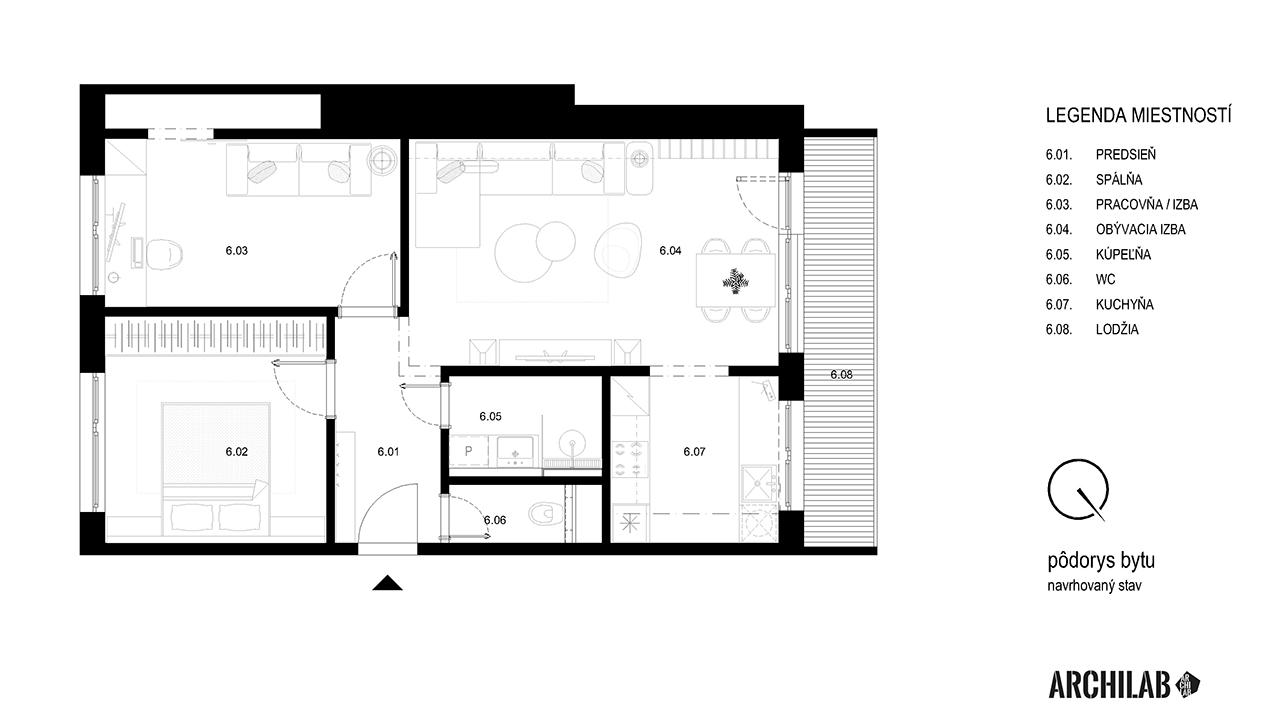 interier-bytu-banselova-podorys-navrh